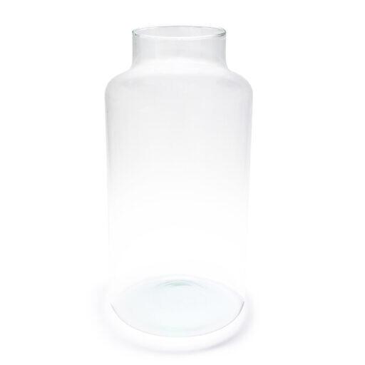 PIVELLO® Glasvase Handgefertigt Glaszylinder Zylinder Glas Deko Hochzeit Ø17cm