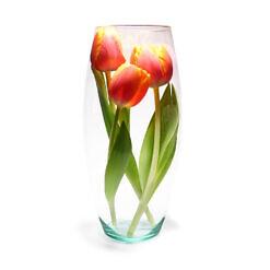 PIVELLO® Blumenvase Handgefertigt Glasvase Zylinder Glas Hochzeit Deko Ø15cm